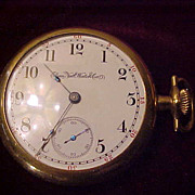 Nice Elgin 11 Jewel 16 Size Open Face Pocket Watch-Runs Perfect