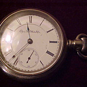 Elgin 15 Jewel 18 Size BW Raymond OF Silveroid Pocket Watch