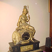 Excellent 1880's  French 8-Day Chiming Figural Clock-Runs Perfect