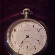 Excellent Waltham 17 Jewel 18 Size Pocket Watch- Runs Perfect