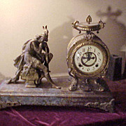 Nice Waterbury Open Escapement Figural Clock - Runs Great