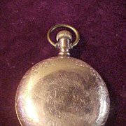 SALE PENDING Columbia 18 Size Hunting Case Pocket Watch w Fahy's Montauk Case