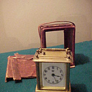 SALE PENDING Excellent Waterbury Small  Repeater Carriage Clock-Works Perfectly