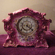 Excellent Ansonia Radius Open Escapement PorceLAIn Clock