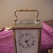 SOLD Rare Seth Thomas Time Only Carriage Clock-Runs & Looks Great