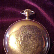 American Waltham 18Sz/17J Hunting Case Pocket Watch-Runs Great