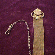Very Attractive & Detailed Early Gold Tone Pocket Watch FOB
