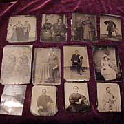 Group of Twelve  Adult Mixed Victorian Era Tintypes