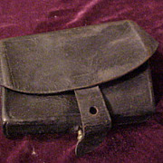 Civil/Indian War Era Leather Ammunition Pouch- Absolutely Late 1800's