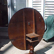 Excellent Late 1700's Cherry Tri Leg Bird's Nest Tilt Top Table