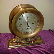Unusual Seth Thomas  Double Mainspring Drive Time Only Brass Clock