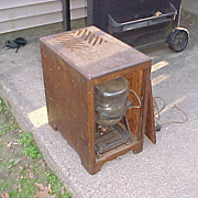 Unusual Complete1920's-30's Wood Box Humidifier