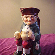 "Excellent Royal Doulton 8 1/2"" ""Old Charlie"" Toby Character Pitcher"