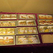 Group of 12 Very Nice Hunting/Fishing Related Stereoviews Cards