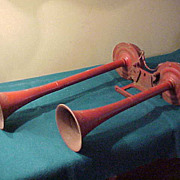 Large Early Plymouth Automotive/Truck Large Double Trumpet Horn