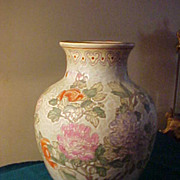 "Marked Vintage Oriental 13""  Vase - Nice Soft Pastel Colors"