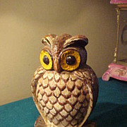 Vintage Very heavy Cast Iron Owl Door-stop