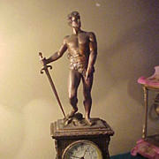 SOLD Excellent All Original Seth Thomas Figural Bronze Clock