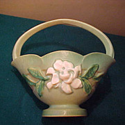Excellent Roseville Gardenia 608-8 Handled Vase