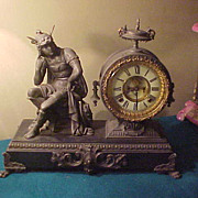 SOLD Excellent Ansonia Mercury Figural 8-Day Open Escapement Clock