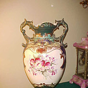 Huge 20&quot; Tall Wonderful Colors Satsuma Style Floor Vase