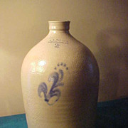 AK Ballaird Burlington VT 2 Gallon Stoneware Jug