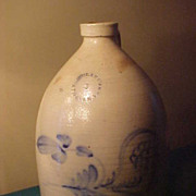 Great N Clark Athens NY 2 Gallon Antique Stoneware Jug