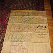 Neat Large 1902 Vermont State Map