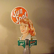 Vintage Sun Spot Bottle Advertising Add Ow/Corn Cobb Bottle