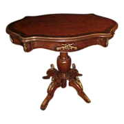 Excellent Ornate 1920's Empire Turtle Style Shaped Table