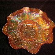 "Excellent Fenton Marigold "" Dragon & Lotus"" 9 Inch Bowl"