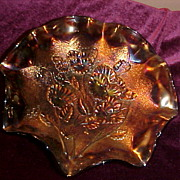 Excellent Imperial Fluted Pansie Pattern in Grape/Purple Bowl
