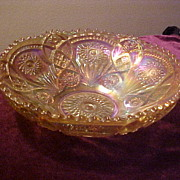 Excellent Imperial Fashion 9 Inch Marigold Spiral Pattern Bowl
