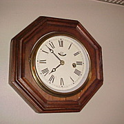 Nice Unusual Octagon Waterbury Wall Clock