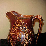 Wonderful Late 1800's Large Bennington Pitcher -Ex Condition