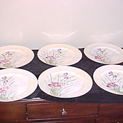 Set of Six Hand Painted Nippon Serving Dishes