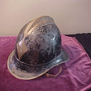 WWI European Brass Crowned and Black Enamel Helmet