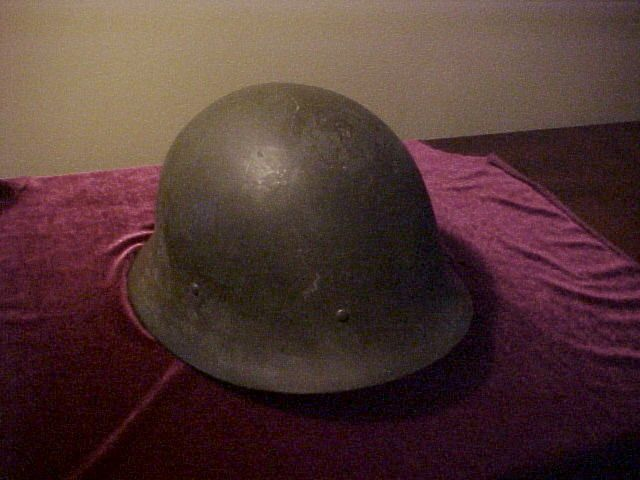 Nice WWII Era Swedish Helmet w/Good Liner and in Excellent Condition