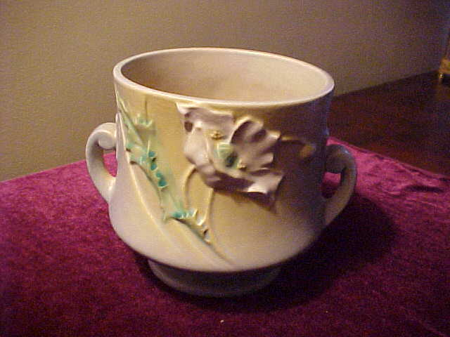 Excellent Roseville Poppy 643-5 Handled Bowl/Planter