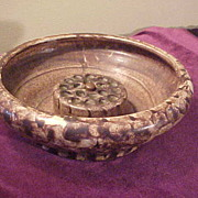 Excellent Peters & Reed Land Sun Pattern Console Bowl w/Frog