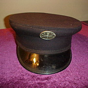 Nice Vintage Firemans Dress Hat -  Size 6 7/8 1964