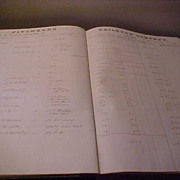 Interesting 1880 Fitchburg Mass Railroad Freight Log Book