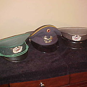 Three Nice Vintage Eastern Block Dress/Officers Style Hats