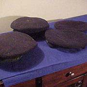 Four Interesting US Navy Dark Blue WWI Era Caps