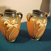 Excellent Pair of Zephyr Lilly 134-8 Handled Vases