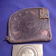 Interesting WWII German Belt Buckle and Early Coin Purse