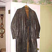 WWII German Full Length Leather Motorcycle Jacket