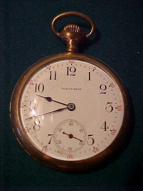 Excellent Waltham 14 Size 17 jewel Pocket Watch-Runs Perfect
