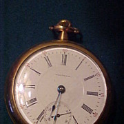 SOLD Nice Waltham 18 Size 17 Jewel Open Face Pocket Watch