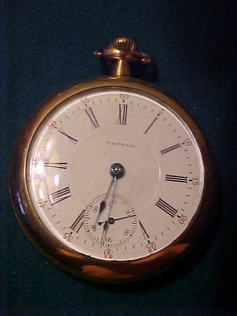 Nice Waltham 18 Size 17 Jewel Open Face Pocket Watch